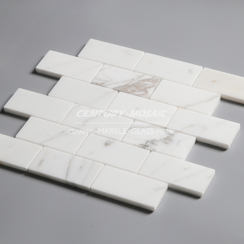 48x96 wit gepolijst baksteen patroon mozaïek tegel voor keuken ...