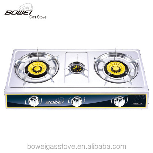 Mini travel cookers 3 burner portable stainless steel gas stove prices