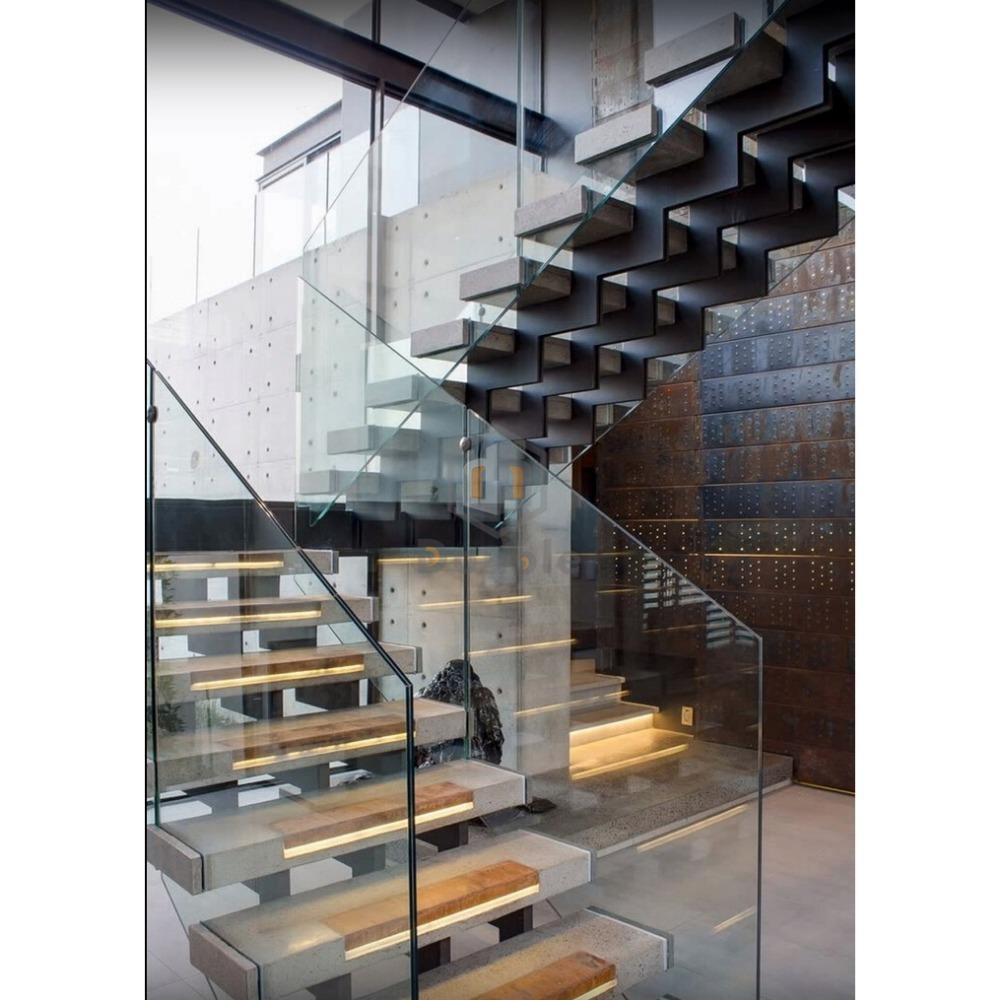 Double Steel Stringer Wood Stairs Diy Stair Railing Decorative Metal Stairs Buy Double Steel Stringer Wood Stairs Diy Stair Railing Decorative Metal