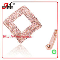 SJK331301 fashion rose gold full crystal scarf ring for women Scarf Connector Accessories