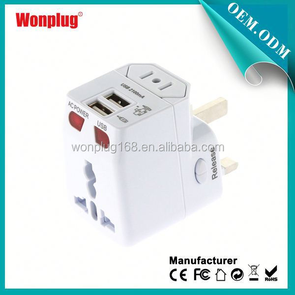 2014 Newest Designed Worldwide Use Universal 12 volt usb charger