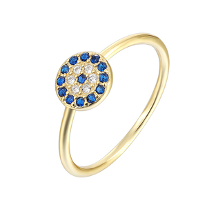 Best selling fashion 18K gold plated 925 sterling silver ring