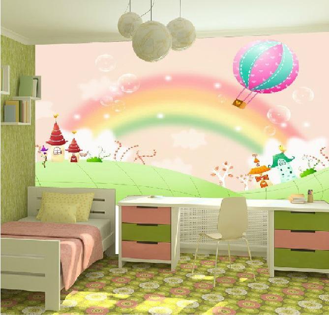 Rainbow Kids Room: Free-shipping-Large-murals-children-s-room-bedroom