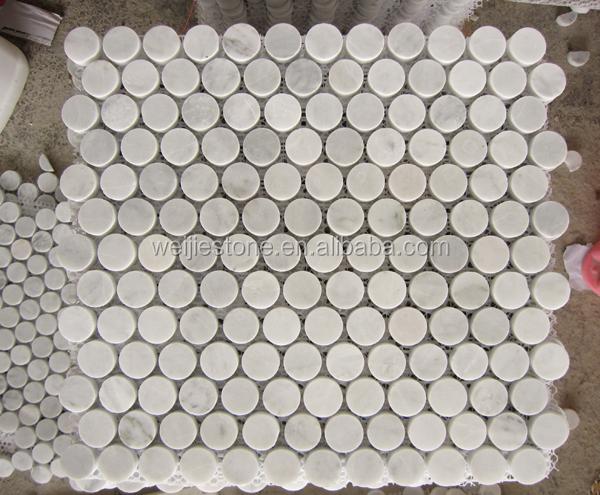 3 4 bianco carrara blanco m rmol piedra mosaico para la for Color marmol carrara