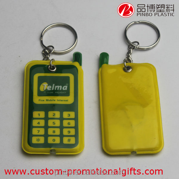 soft pvc keychain with oem logo,custom fashion promotion gift led light keychain