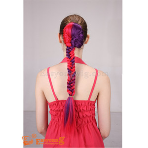 hair for mulit color synthetic drawstring pony tails braids