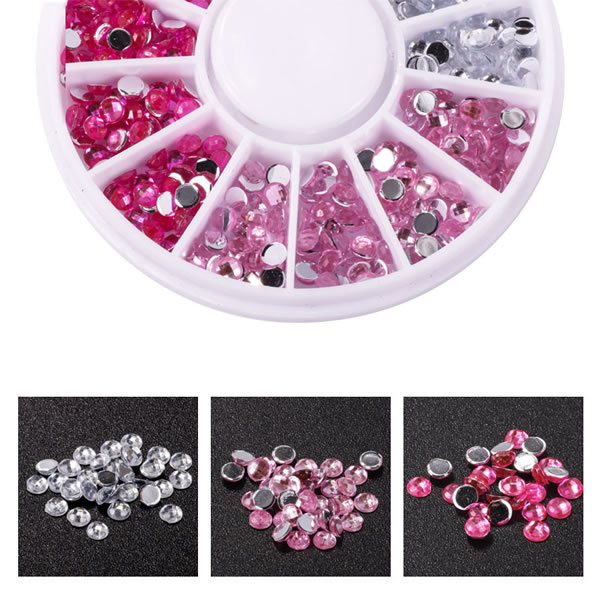 Wholesale Factory Direct 3D Flatback Nail Art Rhinestones Non Hot Fix Nail Art Crystal for Nail Art Decoration