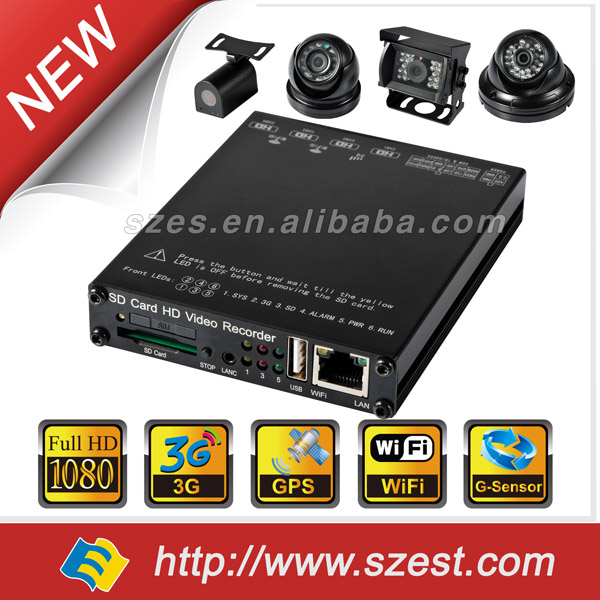 4CH HD Mobile DVR with Wireless File Transfer