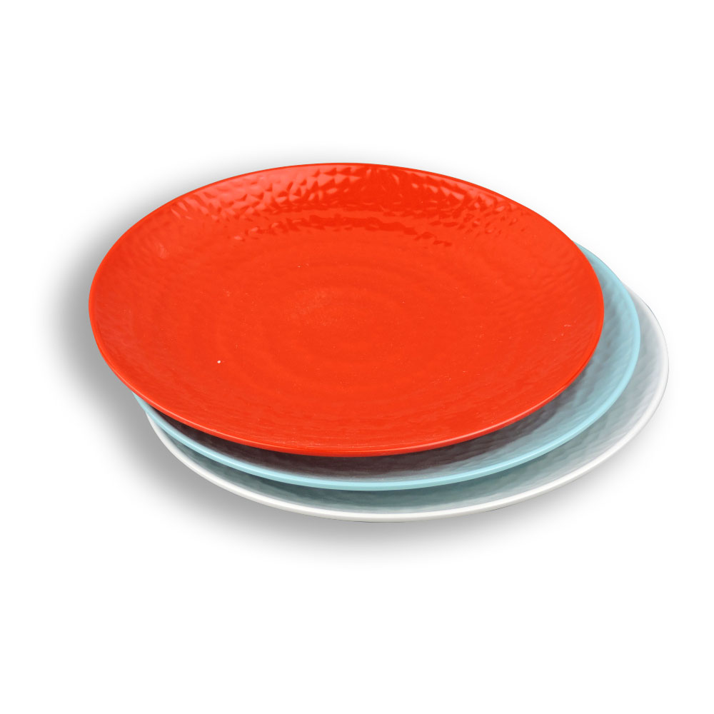 Wholesale 100% Food-Grade 8.67 inch unbreakable dinner set plastic melamine red pizza <strong>plates</strong>