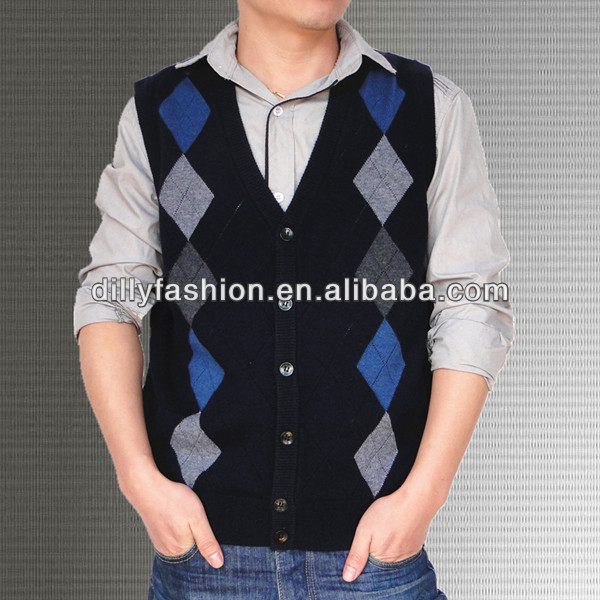 cashmere men's argyle sweater vest