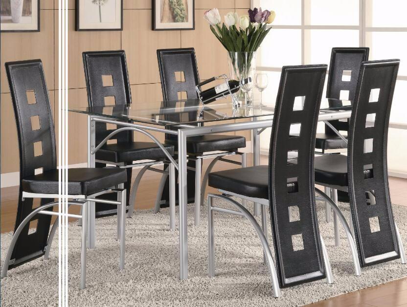 Tavoli Con Gambe Di Vetro : Dt trasparente in vetro temperato tavolo da pranzo con gambe