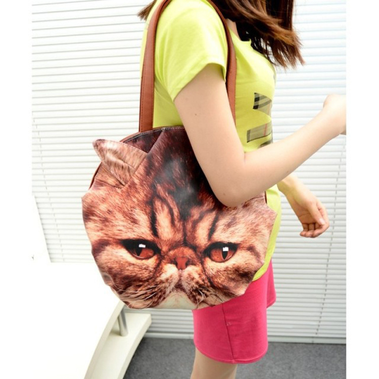 New Arrival 2015 Retro Cartoon Animals Bags Cat Handbag European and American Fashion Handbags 3 d cartoon Shoulder Bag