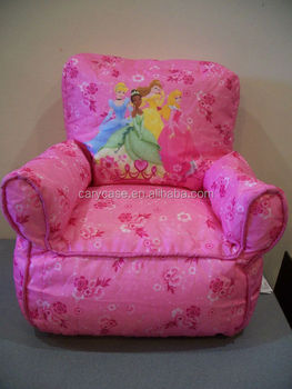 Girl Princess Toddler Pink Bean Bag Kids Sofa Chair Tv Video Game