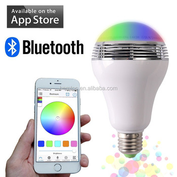 Lights Bulb Rgb Led Colorful Bluetooth Dimmable E27e27 Speaker Control led Remote Buy Smart Wireless With Bulb Lighting Lamp FJ31cTlK
