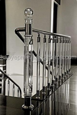 fuente de la fbrica de foshan moderno acrlico balaustre pasamanos de la escalera