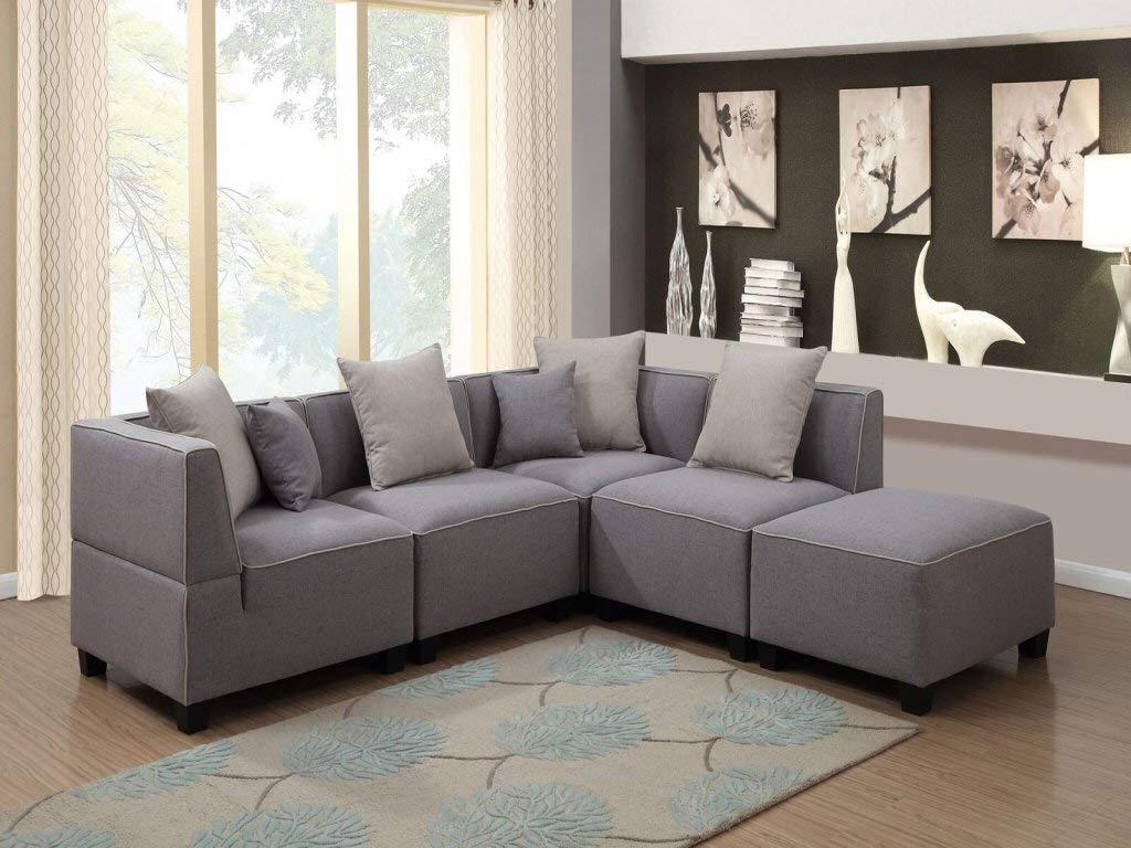 Marvelous Buy 5 Pieces Black Modern Modular Sectional Sofas In Cheap Evergreenethics Interior Chair Design Evergreenethicsorg