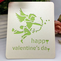 Romantic angel designed Valentine greeting card gift cards for Valentine's day