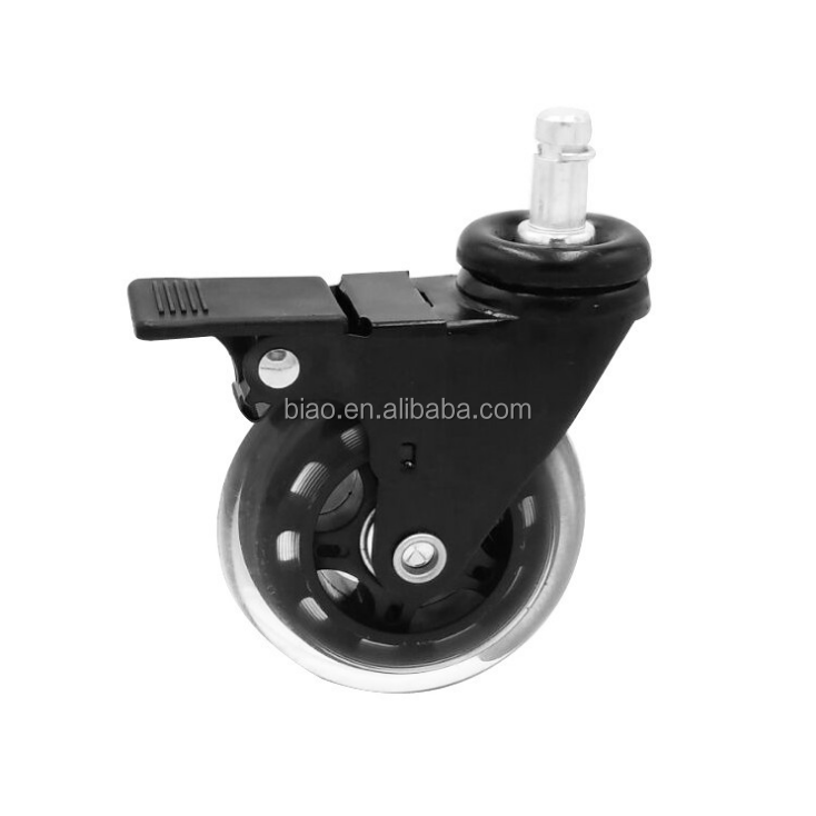 3Inch Office Chair Swivel PU Caster Wheels