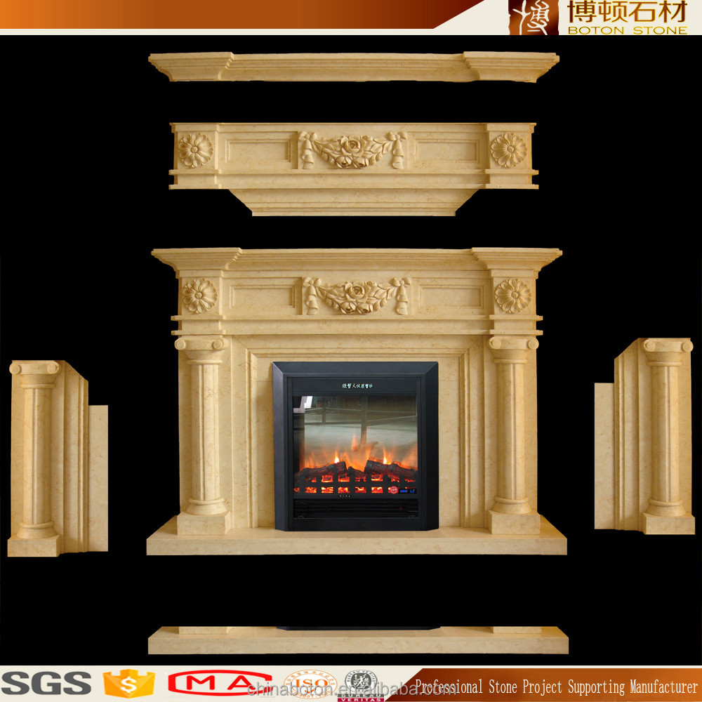 Low Price Natural Marble Chimney Piece Granite Mantel Shelves On