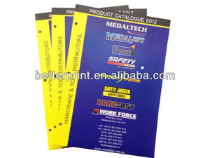 customer design product catalogue printing supplier with punched hole