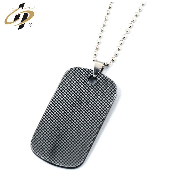 Free design 3d zinc alloy gun black wire drawing  metal dog tag necklace for Taekwondo
