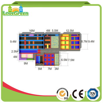 Customized 16ft Trampoline Park In Guangzhou Buy
