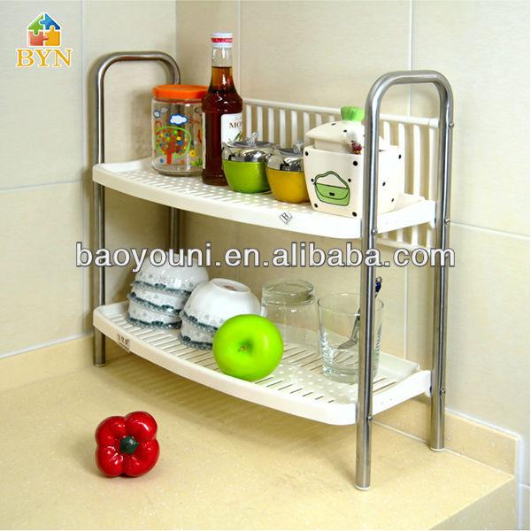 baoyouni bastidores de especias con especias de cocina de en rack de plstico estante de