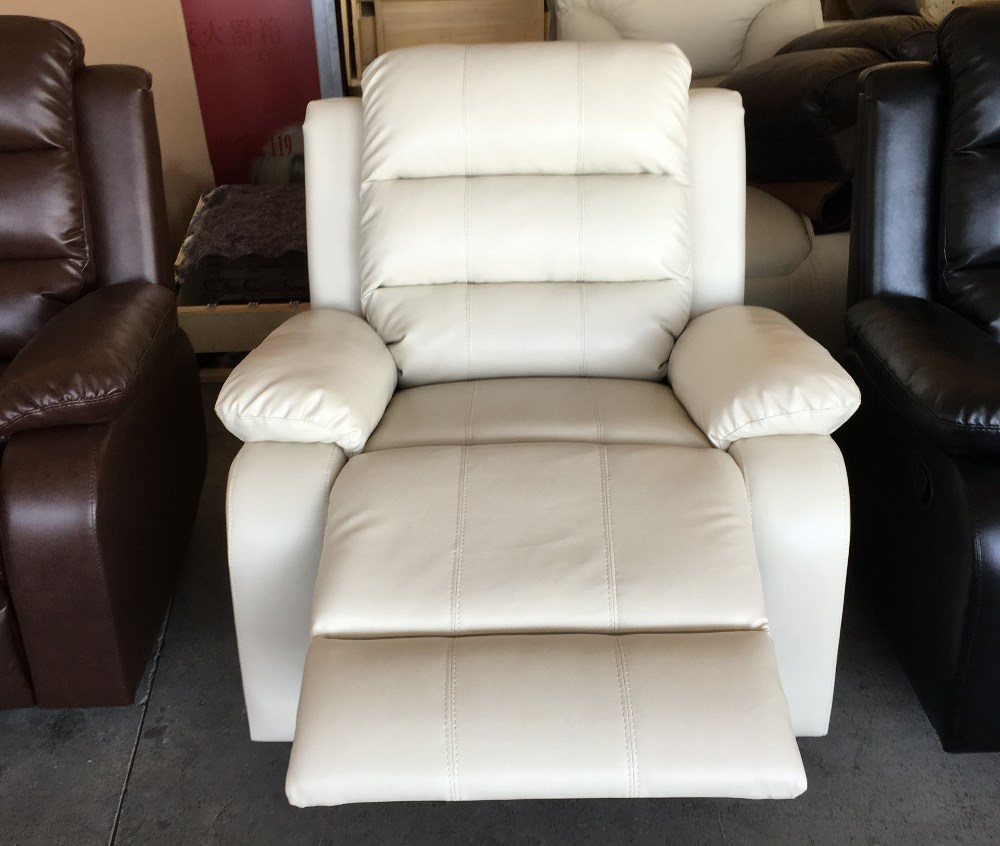 Cómodo hogar muebles de cuero, sofá reclinable silla reclinable ...