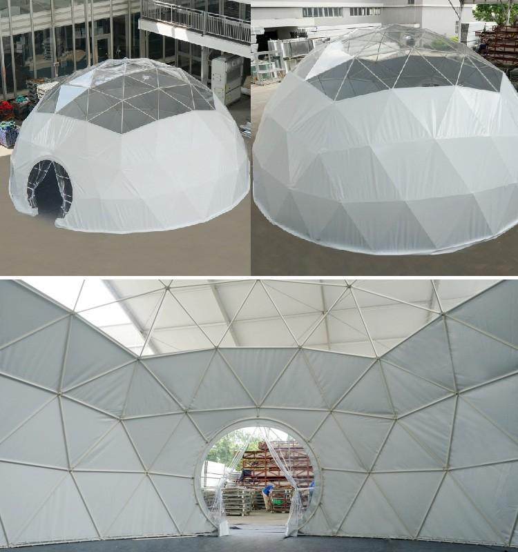 Aluminium Frame Arch Geodesic Dome Tent Buy Aluminium