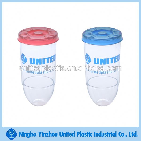 1oz plastic custom bullet shape shot glass