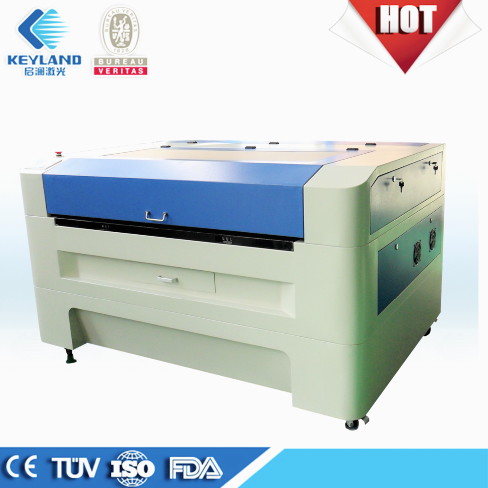 Keyland auto focus 150w co2 laser cutting machine with CCD Shoes Material for buyer kqg-6040 kqg-1060 kqg-1390