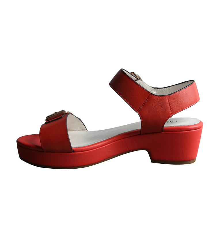 Stylish Thick Heel Comfort Flat Leather Sandals Shoes For Ladies ...