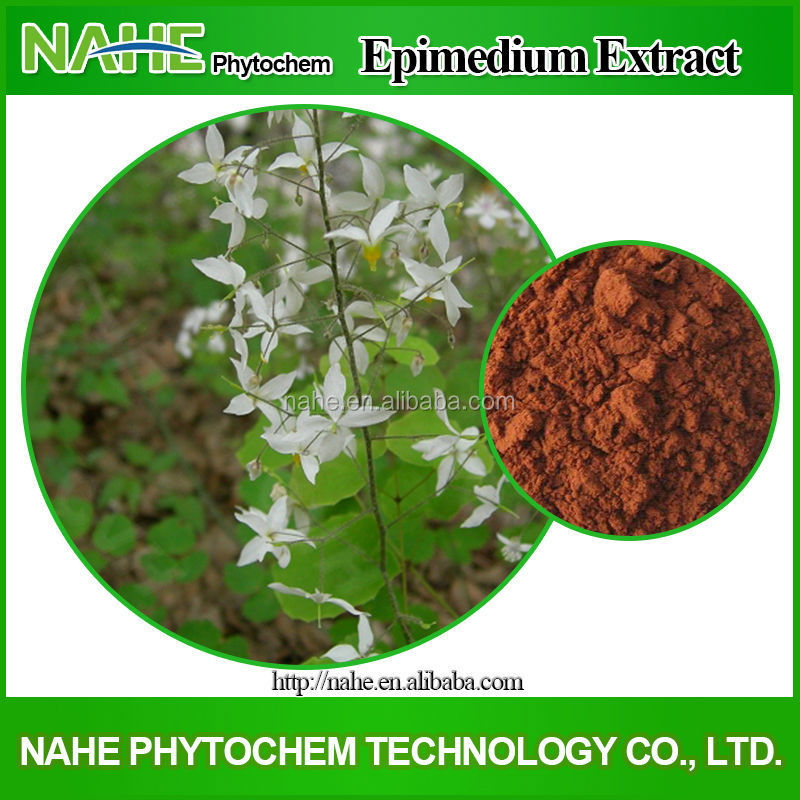 Factory price HPLC5%-98% Icariin Epimedium sagittatum leaves extract for Cold and Flu