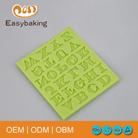 2016 Best Sale Multifunctional Letters Capital A to Z Cake Decoration Silicone Molds Cooking Biscuits