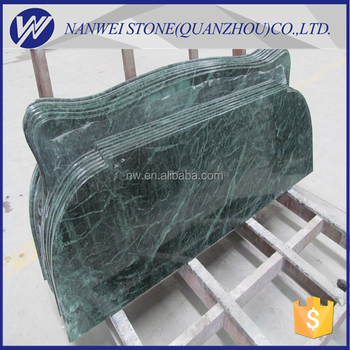 China Factory Polished Green Color Stone Dark Green Anomaly Shape Countertop  Natural Quarry Material Stone