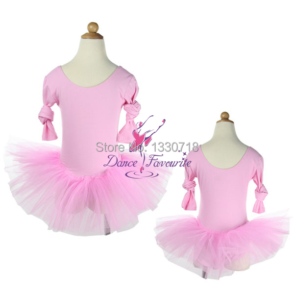 1c1718eafbe180 Get Quotations · Long Sleeve Ballet Skirt with Voile/Child Ballet Dance  Practice Tutus Skirted Leotards for girls