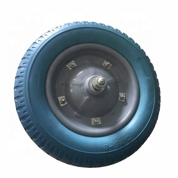 3.25/3.00-8 Wheelbarrow Spare Parts Solid PU Rubber Tyre For Trailers