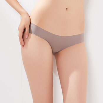 Breathable nude low rise girls underwear ladies sexy seamless panties