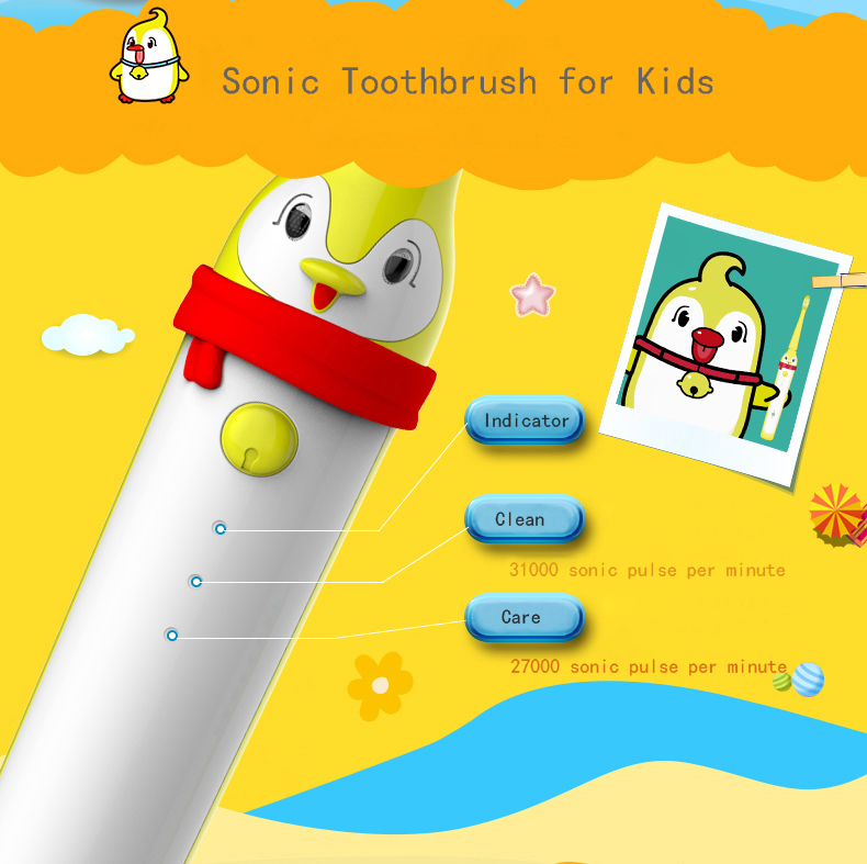 Oral healthy 2020 Good quality waterproof RISUNTECH cordless baby electric toothbrush