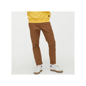 New design mens pants washed cotton twill Chinos trousers