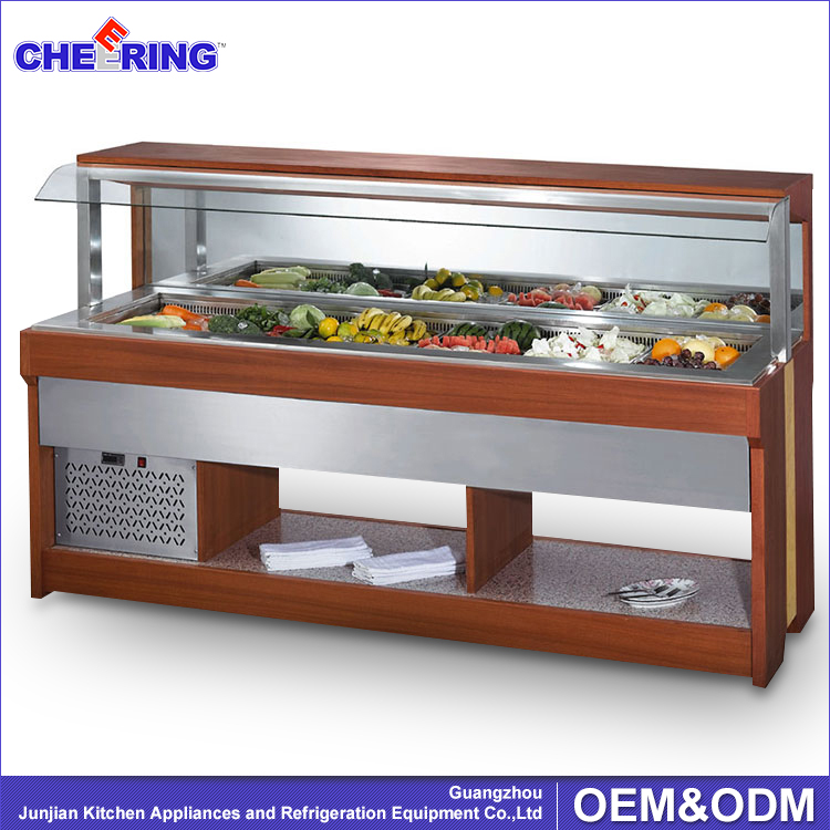 Buffet food warmer affichage chaude bar salade chaude for Equipement hotellerie restauration
