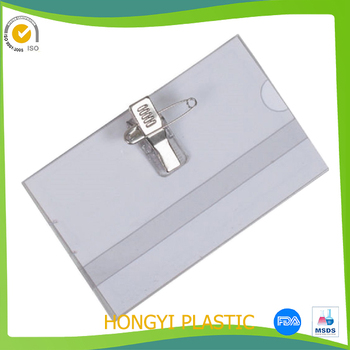 soft plastic card wallet clear plastic hard id card holders with clip pin great - Plastic Card Holder