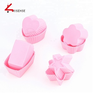 5piece new products Silica gel muffin liners baking cups / cupcake liners cake cases / mould for cupcake