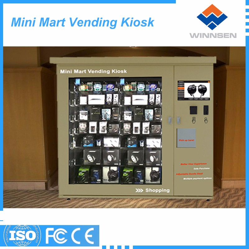 Credit card/coin support self-service vending machine