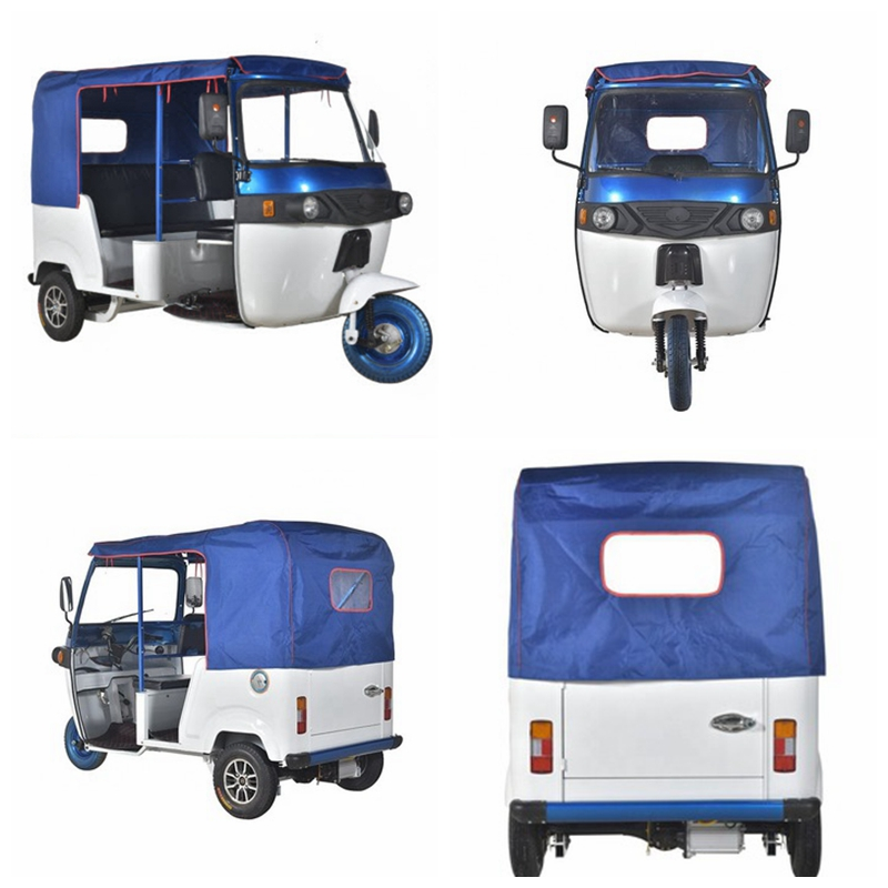 Electric auto rickshaw 48v 4000w lithium battery operated