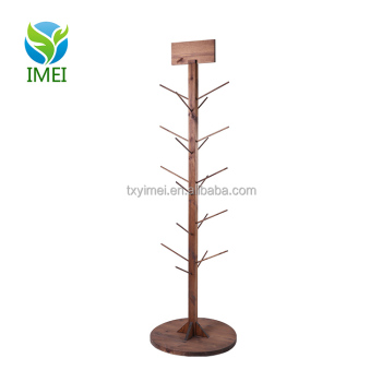 Good Material clothes shop display furniture wood clothing rack
