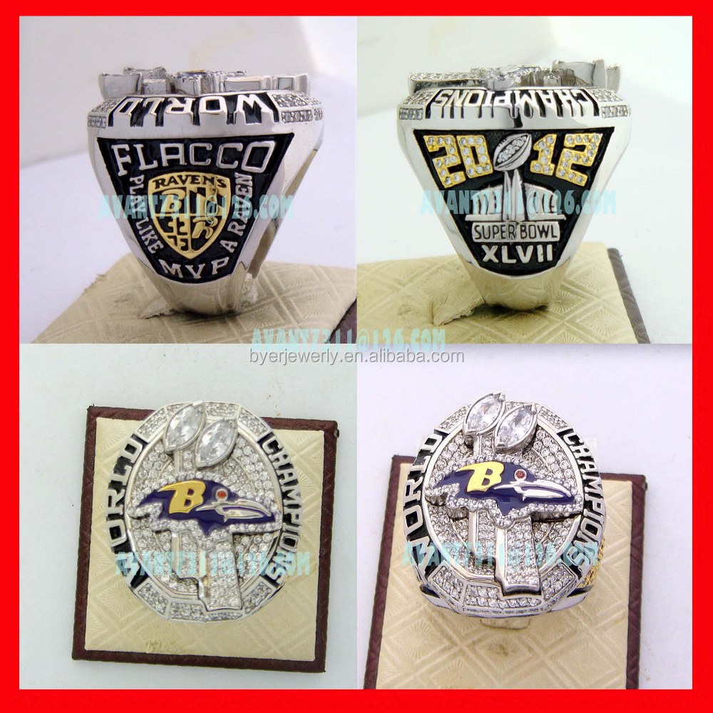Wholesale custom 2012 Ravens replica championship super bowl rings
