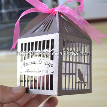 Laser Cut Wedding Gifts For Guests Lovelybird Cage Wedding