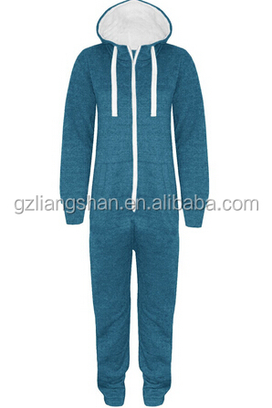 OEM WHOLESALE CHEAP UNISEX MENS WOMENS HOODED ZIP PLAYSUIT ALL IN ONE PIECE JUMPSUIT SZ S-XL