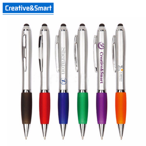 Promotional Cheap Custom Logo Gourd Pen Mobile Phone Advertisement Sample Plastic Ball Pen